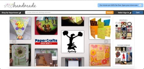 Sites like Shop Handmade Goods