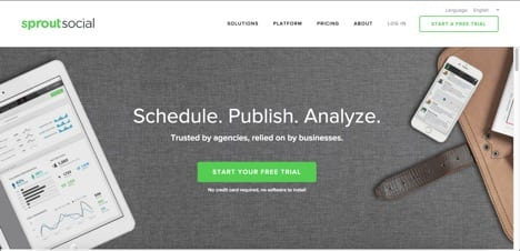 Sites like Hootsuite SproutSocial