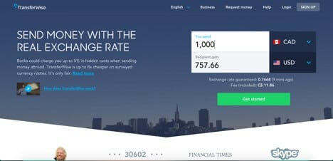 TransferWise Paypal alternative