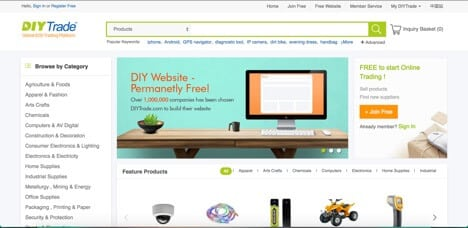 Sites like Alibaba diytrade