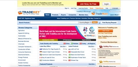 Sites like Tradekey