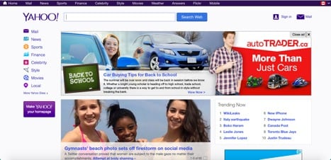 Sites like Yahoo
