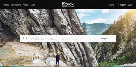 Sites like iStock Getty Images