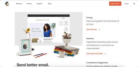 Sites like Mailchimp