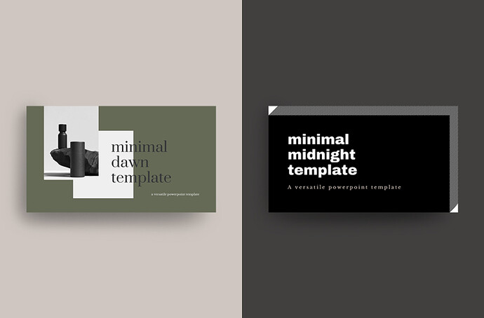 Minimalistic PowerPoint Templates