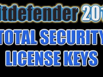 Bitdefender Total Security 2016 Key Till 2050 Full