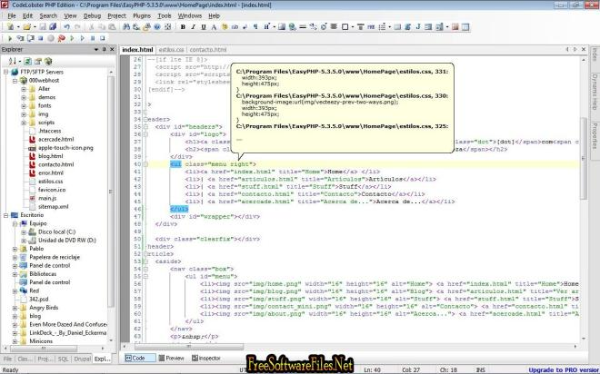 CodeLobster PHP Edition Free Download for Windows