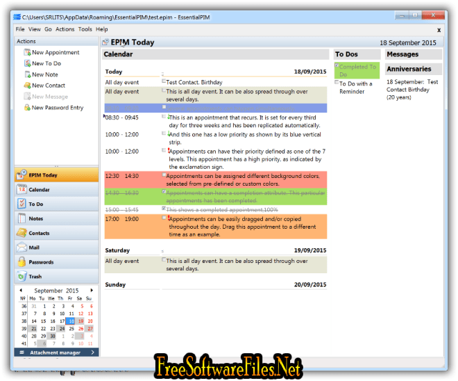 Essential PIM 7.52 Free Download review