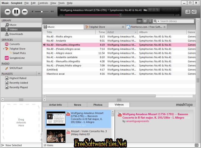 Songbird 2.2.0 Free Download for windows