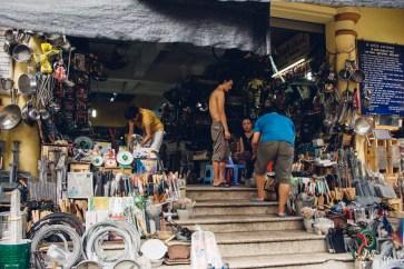 A shop selling metal tools