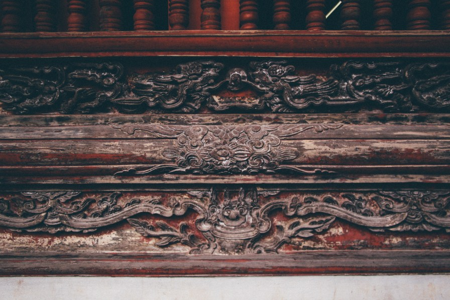 Wood Carving at the Temple of Literature