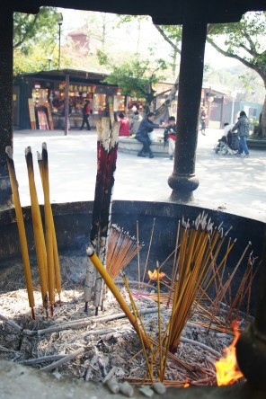 Incenses burning at Poh Lin Monastery