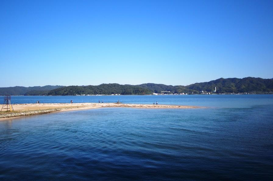 View of the beach from the amanohashidate sandbar