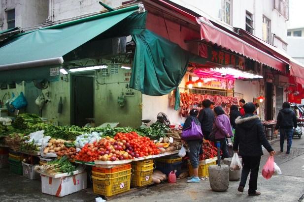 Vegetable Stall at Wet Market