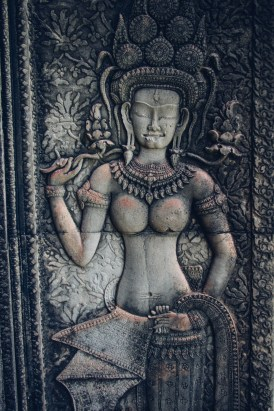 Apsara Carving on Wall