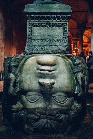 Inverted Medusa head Column