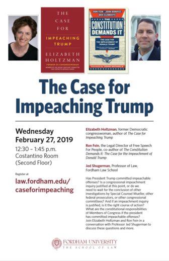 Fordham The Case For Impeachment