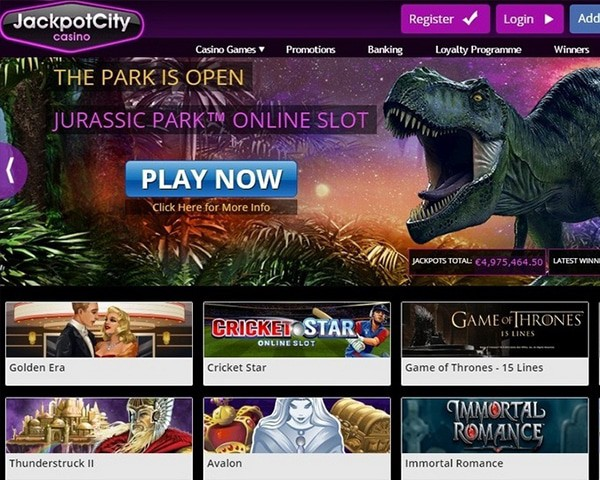 JackpotCity free spins gratis