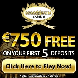 Colosseum Casino | 210% up to $750 bonus and free spins | review