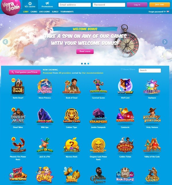 Vera John Casino Online and Mobile Review