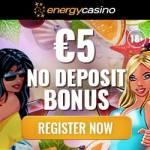 EnergyCasino €5 free cash and 150% match bonus – free spins!
