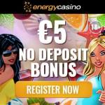 EnergyCasino €5 free cash and 150% match bonus - free spins!