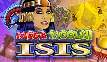 Mega Moolah Isis - 30 free spins and bonus games - progressive jackpot!