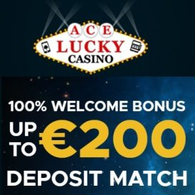 Ace Lucky Casino 100 free spins and $/€/£200 free welcome bonus
