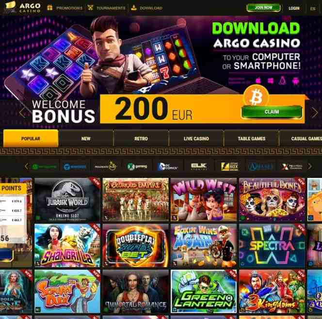 Argo Casino Free Spins Games