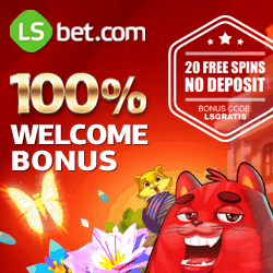 LSbet Casino | 20 free spins (bonus code) + 100% up to $300 free credits