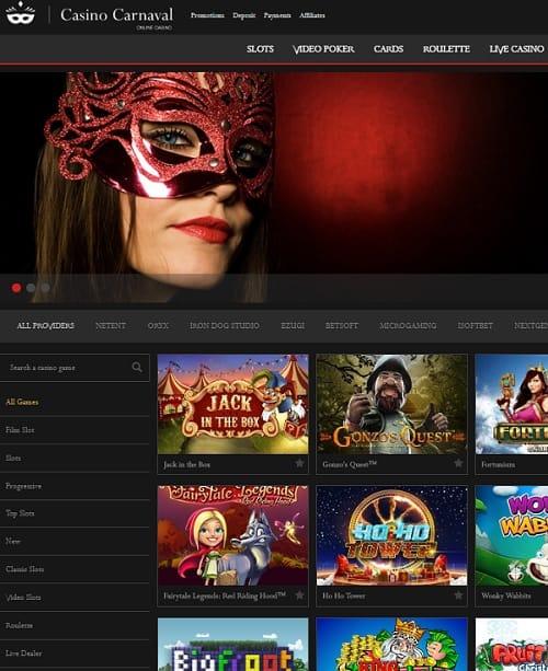 Carnaval Casino free play bonus