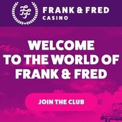 Frank & Fred Casino | 300 free spins + 1000 EUR free bonus | Review