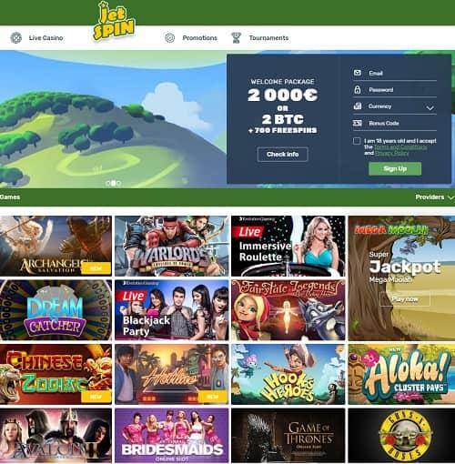 JetSpin Casino free bonus