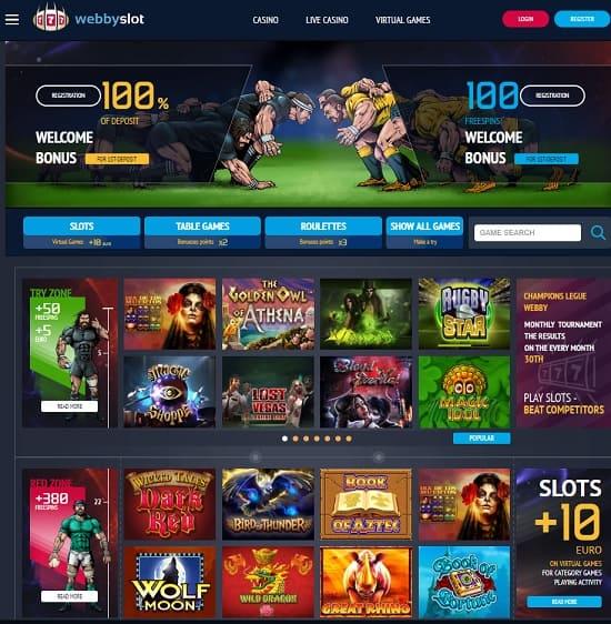 Webby Slot Casino Information