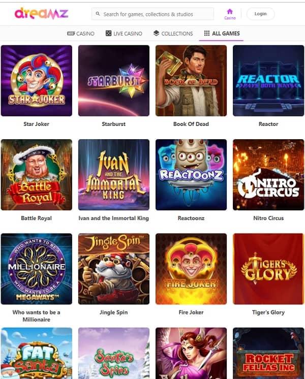 Dreamz Casino free spins and bonus money