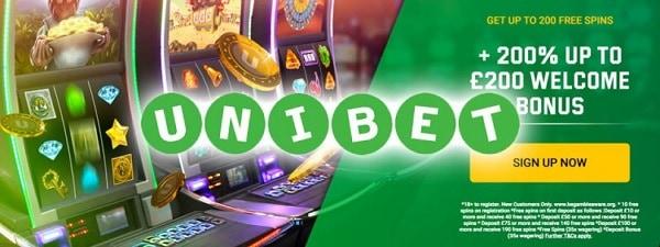 Unibet Casino free spins bonus