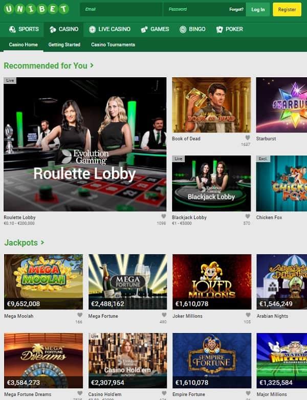 Unibet.com Casino Review