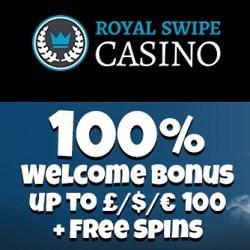 Royal Swipe Casino | 100 free spins + 100% up to €1000 bonus | Review