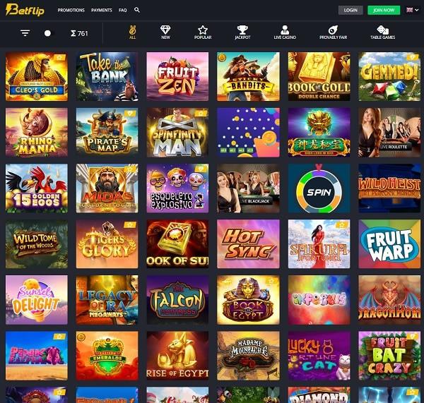 Betflip.io Online Casino 20 free spins no deposit needed