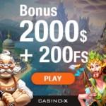 CASINO X – €2000 bonus and 200 free spins – best jackpot games!