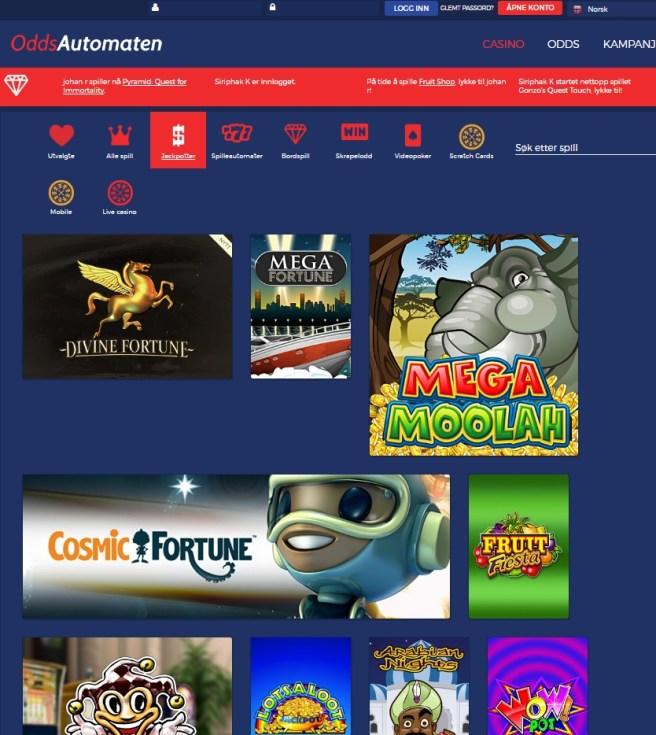 OddsAutomaten the best casino in Norway!
