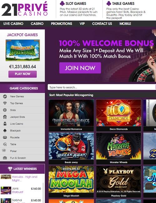 21 Prive Casino Review