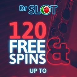 Dr Slot Casino [register & login] 120 free spins + £1,000 deposit bonus