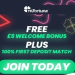mFortune Casino £5 free bonus on registration - no deposit required