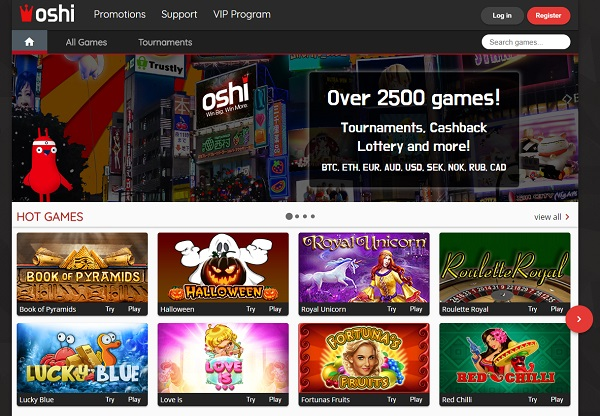 Oshi Casino Online & Mobile