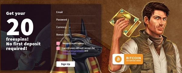 Wildblaster.com 20 gratis spins without deposit