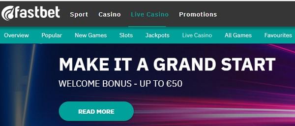 Fastbet.com free bonus