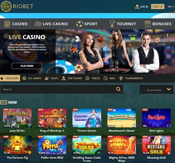 Riobet.com no deposit bonus and 320 free spins