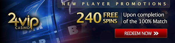 24VIP Casino 240 free spins for new players