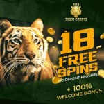 888 Tiger Casino $18 free spins bonus no deposit required